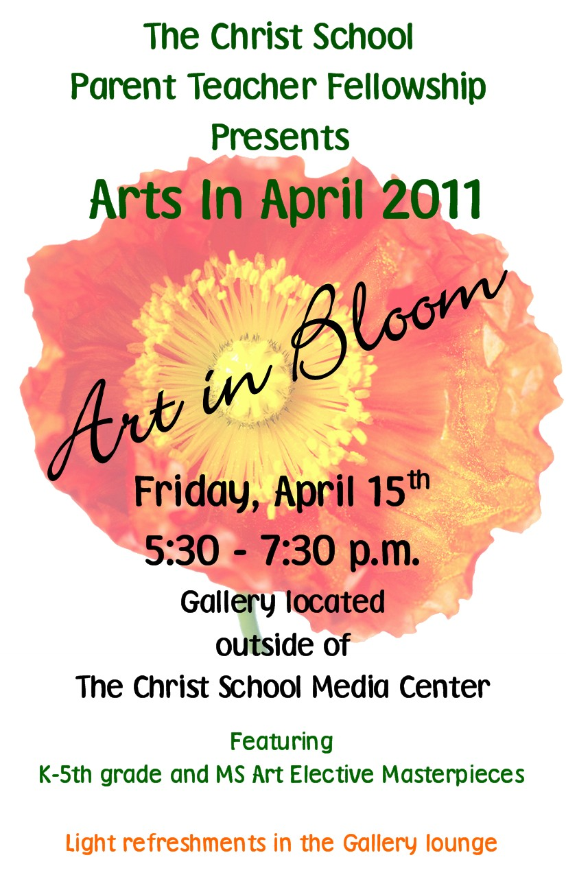 Arts in April 2011 invitation